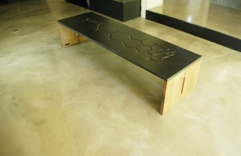 Table basse beton et bois COALITION©BRUTDESIGN2016