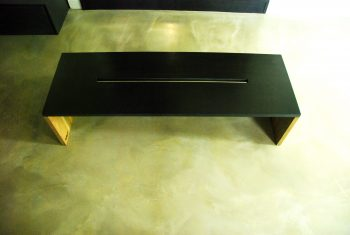 Black Concrete coffee table DARK SQUARE