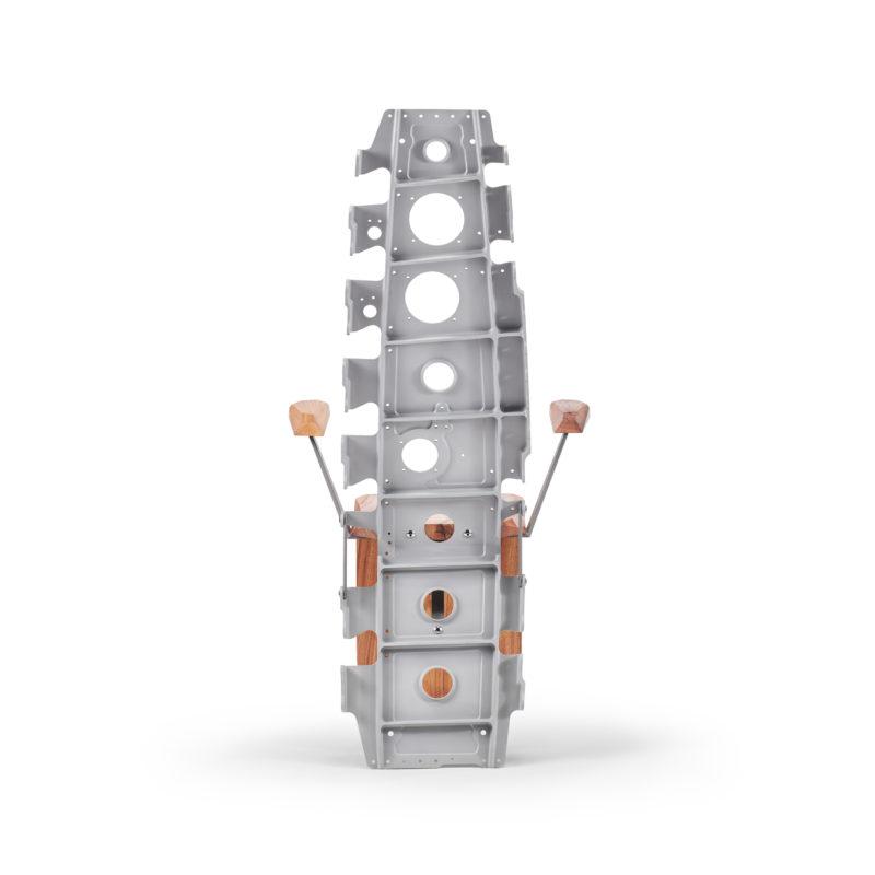 Chaise Spine X - Nervure aile avion Airbus ©Brut Design - A piece of sky - artisan designer - mobilier contemporain sur mesure