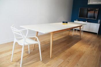 Table dekton céramique – Pied compas scandinave – table de réunion – ©BrutDesign – Artisan designer – Gers  – Lot et Garonne – Sud Ouest- France